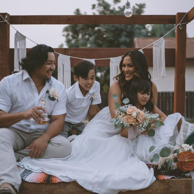 A beautiful intimate backyard vow renewal in San Diego, CA by San Diego Wedding Photographer HelloMikee